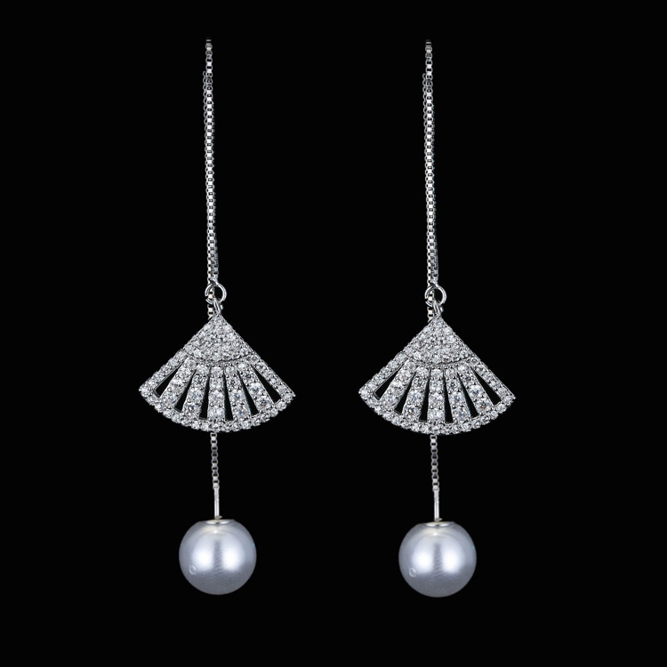 Style 123319 Diamontrigue Jewelry: Latest New Style 925 Sterling Silver Drop Earrings