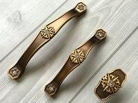 3 75 5 Rhinestone Drawer Pull Handles Dresser Pulls Cabinet Handle Knob Retro Kitchen Furniture Door