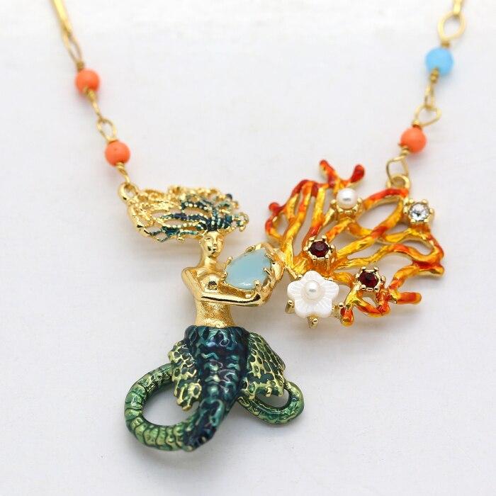 Французский dyxytwe Ocean серии Русалка Цепочки и ожерелья для Для женщин уникальный модный свитер Ожерелья для мужчин ювелирный бренд