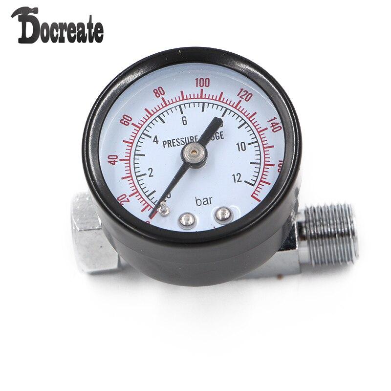 1/4inch Adjustable Mini Air Pressure Regulator Dial Gauge HVLP Spray Gun Air Tools 1 4inch adjustable mini air pressure regulator dial gauge hvlp spray gun air tools