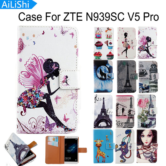 AiLiShi For ZTE N939SC V5 Pro Case PU Cartoon Painted Flip Fashion Leather Case Hot Sale Factory Direct + Tracking In Stock