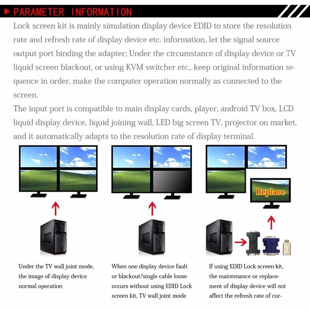 Emulador pasante EDID EMERED-HD15 de FUERAN VGA para usar con - Cables de computadora y conectores - foto 6