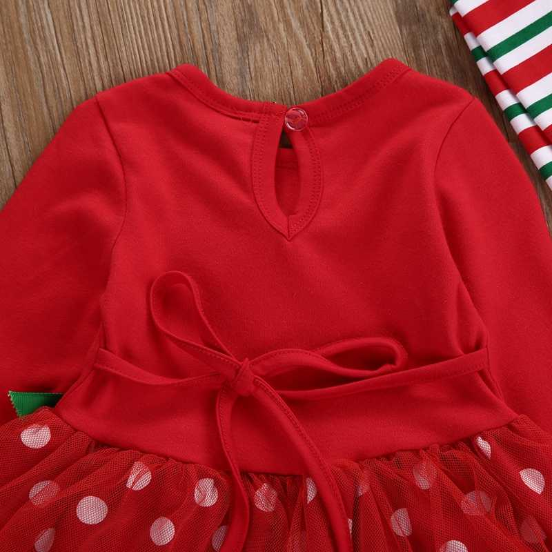 d9b742622 ... 2 piezas infantil bebé niñas Navidad camiseta Tops de encaje de +  Pantalones Leggings trajes conjunto ...