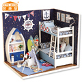 Handmade Doll house furniture miniatura diy doll houses miniature dollhouse wooden toys for children birthday gift H05