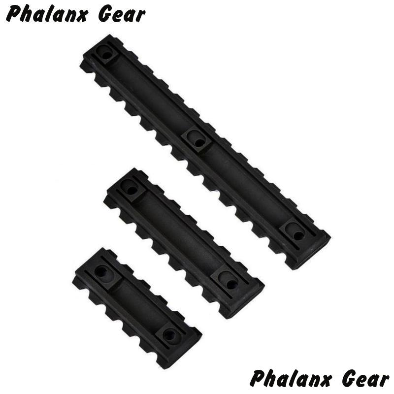 "3 Sizes Set 5 7 13 Slot 2 ""3"" 5 ""Picatinny Weaver Rail Mount ABS Plastic Keymod Rail Handguard Section for Hunting-in Scope Mounts & Accessories from Sports & Entertainment"