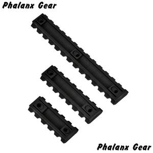 "Image 1 - 3 Sizes Set 5 7 13 Slot 2 ""3"" 5 ""Picatinny Weaver Rail Mount ABS Plastic Keymod Rail Handguard Section for Hunting"