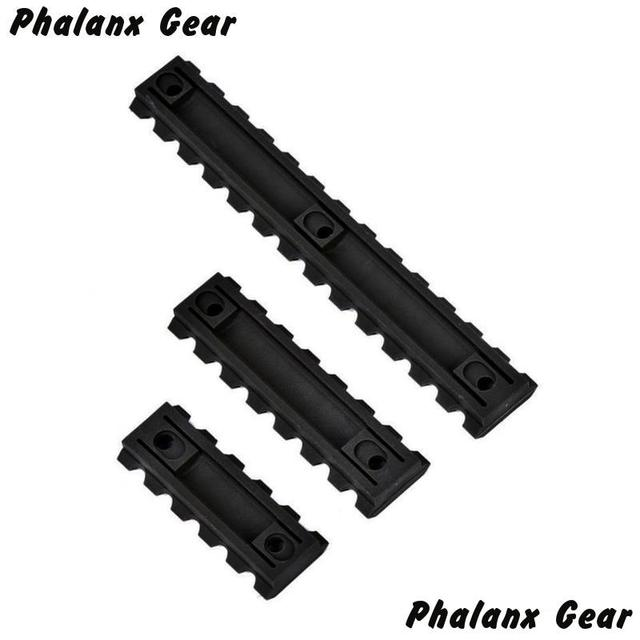 "3 Sizes Set 5 7 13 Slot 2 ""3"" 5 ""Picatinny Weaver Rail Mount ABS Plastic Keymod Rail Handguard Section for Hunting"