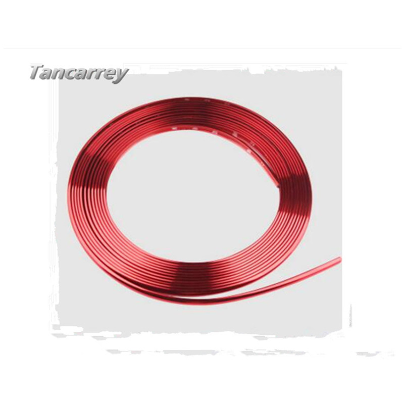 8M/Roll Car Decor Styling Strip <font><b>Wheel</b></font> Hub Rim Protection Sticker for Chery Tiggo <font><b>Peugeot</b></font> 307 206 308 407 207 3008 2008 508 <font><b>406</b></font> image