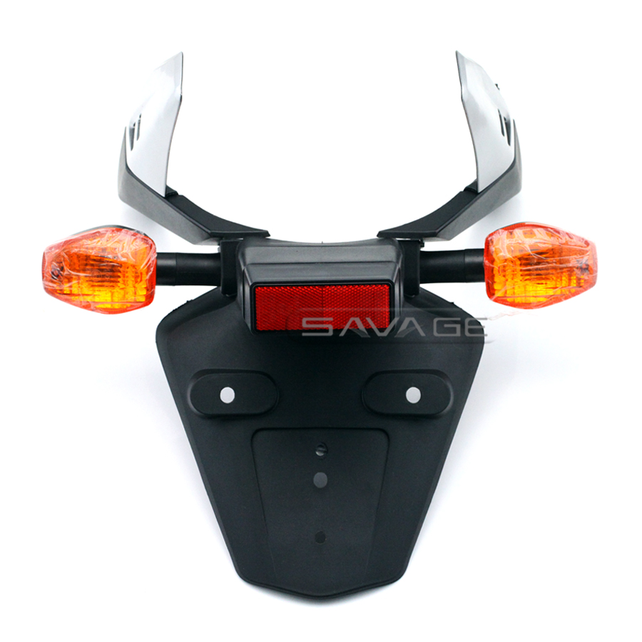 For HONDA CBR 600RR CBR600RR 03-06, CBR1000RR 04-05 Fender Eliminator Registration License Plate Holder Bracket with Turn Signal motorcycle tail tidy fender eliminator registration license plate holder bracket led light for ducati panigale 899 free shipping