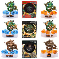 3 Styles Anime Dragon Ball Z Action Figure Shenron Shenlong With 7 PCS 3.5 cm Dragonball PVC Model Doll Hot Toys 15 cm