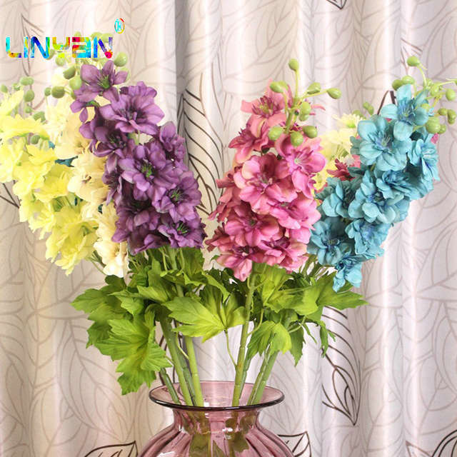 US $15 92 28% OFF|Beautiful single artificial flowers wedding bouquets home  decoration other holiday supplies christmas decoration plastic t3-in