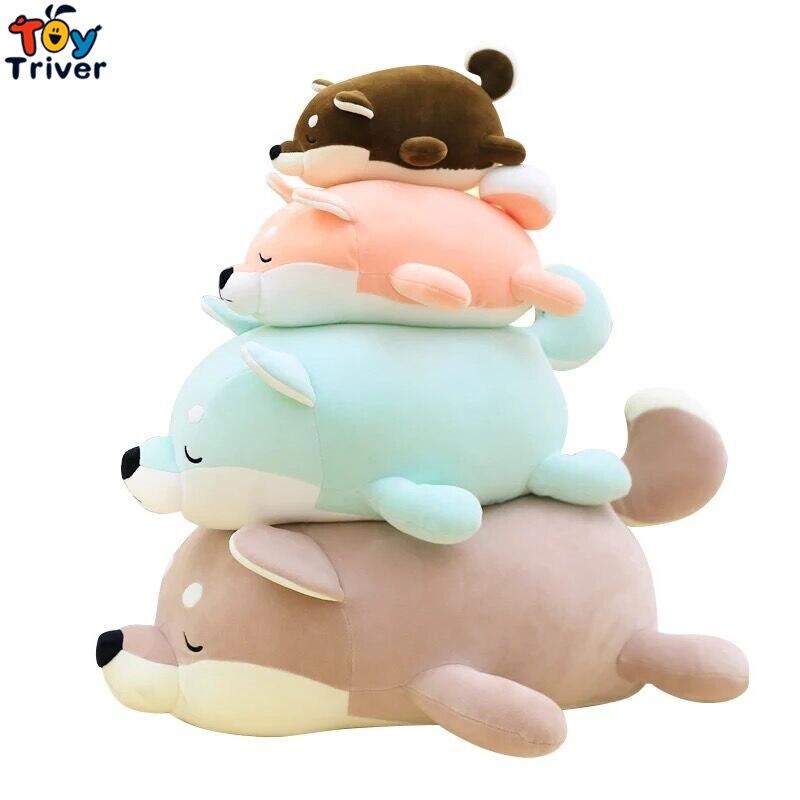 Kawaii Soft Plush Shiba Dog Toy Stuffed Akita Dog Toys Cartoon Animal Dolls for Children Kids Baby Home Shop Decor Birthday Gift creative akita dog shiba inu plush toys imitation dog doll cartoon birthday gift 40 60cm