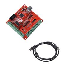 CNC USB MACH3 100Khz Breakout Board 4 Axis Interface Driver Motion Controller(China)