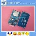 20 pçs/lote interfaces de spi módulo de cartão micro sd mini leitor de cartão tf com chip conversor de nível para arduino