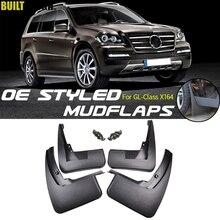 Set kalıplı Flap Flaps için Benz GL sınıf X164 GL450 GL350 2007 2012 Mudflaps Splash muhafızları 2011 2010 2009 2008 aksesuarları
