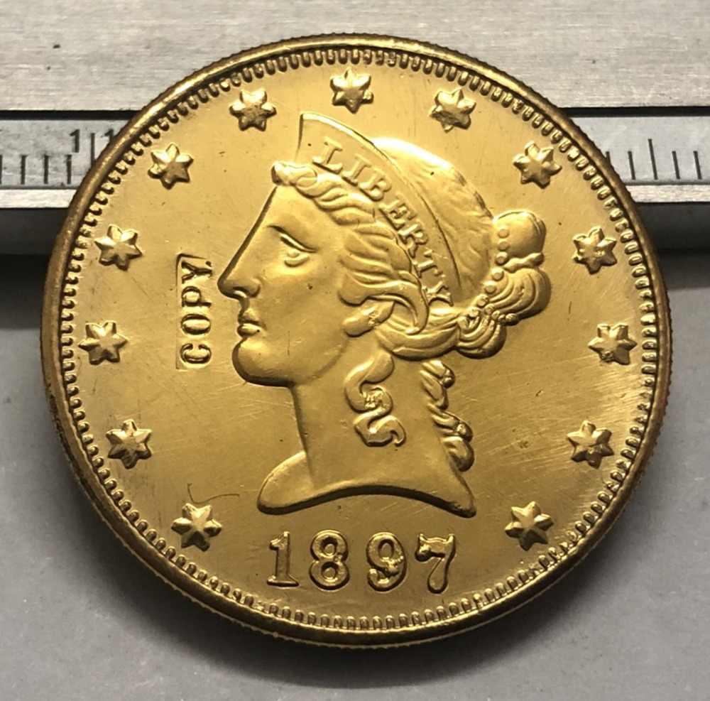 1897 Amerika Birleşik Devletleri Liberty Kafa (üzerinde Slogan Ters) $10 altın Kopya Para (herhangi bir tek nane P & S & O Seçin)
