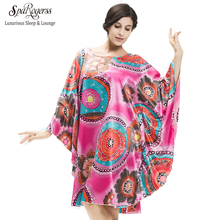 SpaRogerss Plus Size Women Nightgowns 2017 Ladies Sleepshirts For Mothers Fashion Batwing Casual Home Summer Female