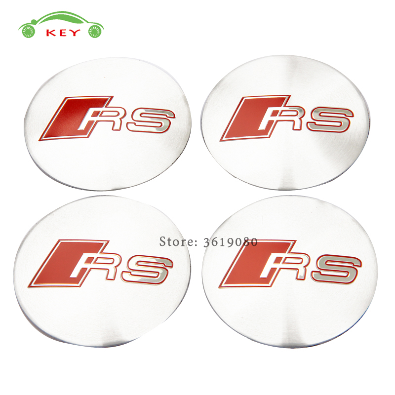 Car Styling Wheel Center Hub Caps Emblem Badge Stickers for RS Logo for Audi RS4 RS3 RS5 RS6 S3 S1 A3 A4L A5 Q3 Q7 B5 TT quattro
