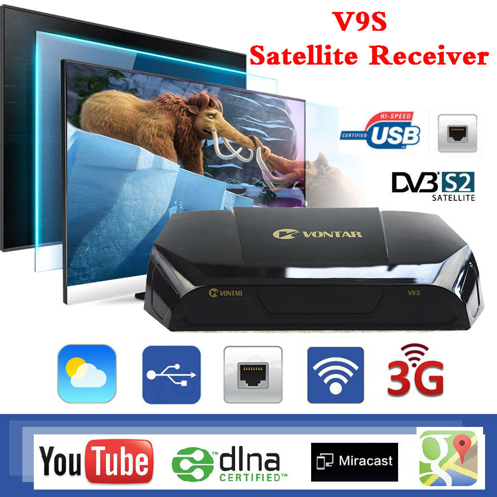 Original V9S Satellite Receiver DVB-S2 HD USB Port WEB TV Wifi IPHD Xtream V9S Stalker IP TV youtube youporn b150m f plus ddr4 motherboard b150 lga 1151 99%new