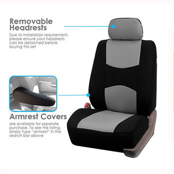 AUTOYOUTH Automobiles Seat Covers Full Car Seat Cover Universal Fit Interior Accessories Protector Color Gray Car-Styling  1