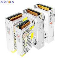 AC 220v potencia de conmutación fuente de alimentación 24v 12v 12v 120w 180w 250w 360w 500w controlador de fuente de 600w fuente de alimentación Led 12 V 24 V unidad