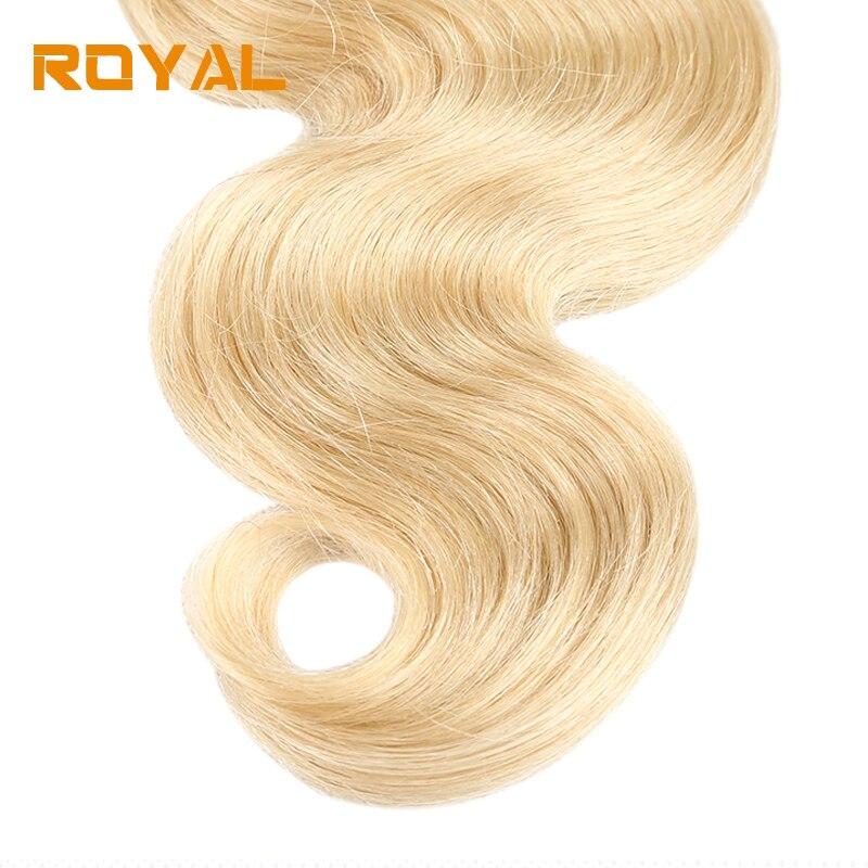 Pre-colored Body Wave 3 Pcs Bundles Malaysian Human Hair Weaving 1b/613 Ombre Non Remy Royal Hair Bundles