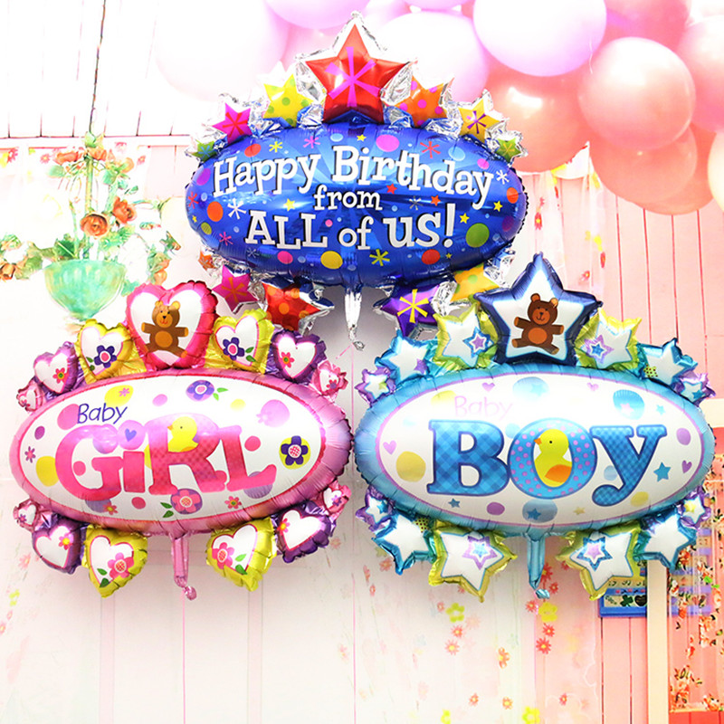 Large Awning Foil Balloons classic toys boy and girl air balloon inflatable heli