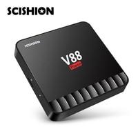 SCISHION V88 Piano 4GB RAM 16GB ROM Smart TV Box Android 7 1 RK3328 2 4GHz