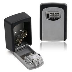 Коробка для хранения ключей, 4-кодовый замок коробка, настенный замок Коробка, настенный для ключей Сейф/ключ безопасности держатель