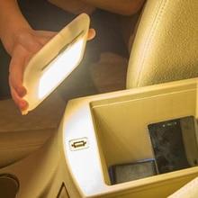 VODOOL Универсальный USB Перезаряжаемый белый/синий светодиодный автомобиль светильник для ЧТЕНИЯ ИНТЕРЬЕР крыша Doom лампа Магнитный светодиодный автомобиль Стайлинг ночник
