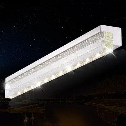 Simple moderne applique Murale Lampe de mur de cristal miroir de salle de bains applique Murale à LED pour la maison intérieure éclairage Lampe Murale Lamparas