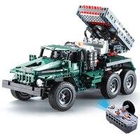 RC Truck Rocket Transporter 2in1 Technic Military Building Model 1369PCS Blocks Children Toy Compatible Lepin Bricks legoINGS
