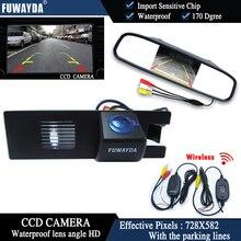 FUWAYDA Wireless Car Rear View Camera for OPEL Astra H/Corsa D/Meriva A/Vectra C/Zafira B,FIAT+4.3Inch rearview Mirror Monitor
