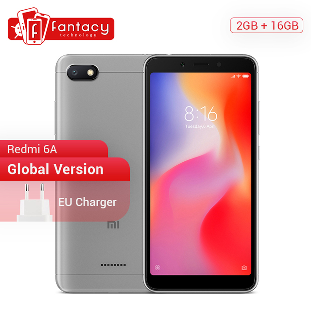 Global version Xiaomi Redmi 6A 6 A 2GB 16GB Smartphone 5.45'' Full Screen 12nm Helio A22 Quad Core 13MP Camera AI Face MIUI 9