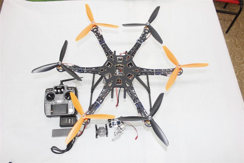 F08618-G DIY Drone Quadcopter Upgraded Full Kit HMF S550 9045 3-Propeller 6axle Multi Hexacopter UFO RTF/ARF & 2-axle Gimbal