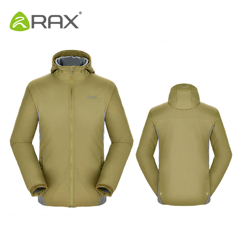 ФОТО Rax Autumn And Winter Waterproof Windproof Outdoor Hiking Jacket Women's Men's Warm Softshell Jacket Windbreaker Thermal Jacket