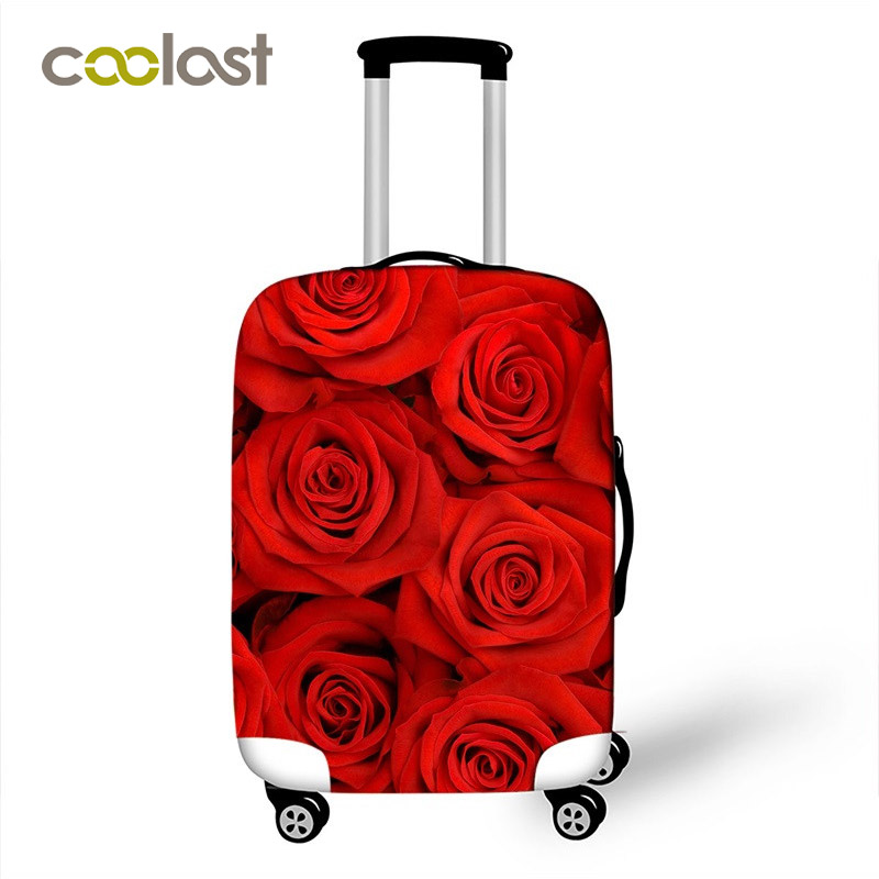 Flower Pattern Travel Luggage Cover 18 - 28 Inch PinkSuitcase Protective  Covers Lady Trolley Luggage Dust-proof Girls Cover dc1fd0f287159