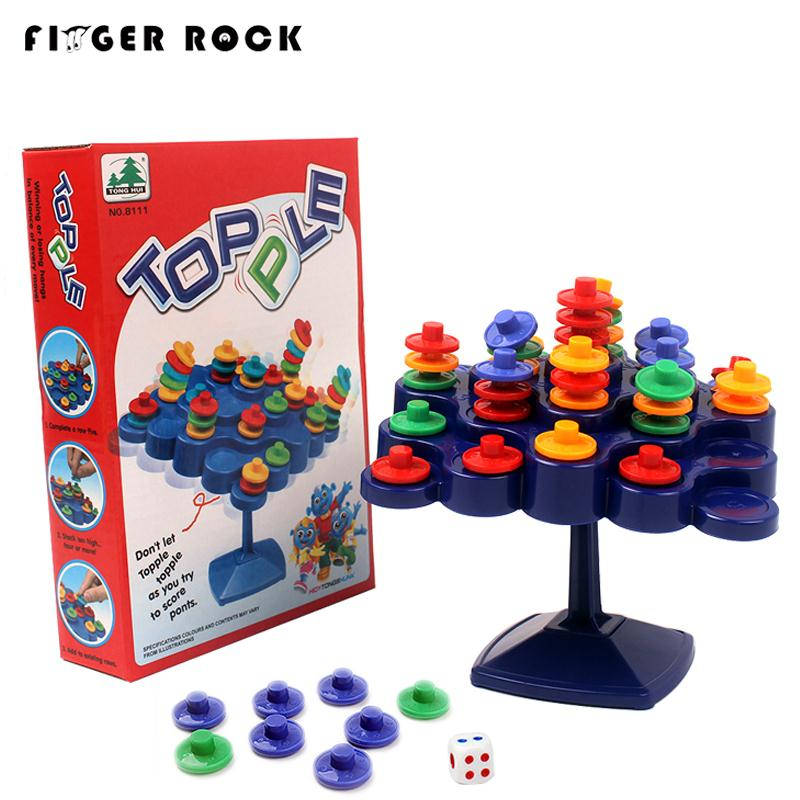 Original Topple Tower Activate Board Game Puzzle Table Kids Toys Family Entertainment Funny Game Educational IQ Toy For Children big metal box domino 91 pcs pai gow toy game double 12 domino table game toys for children and adults board game