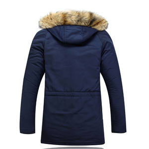 Image 4 - Mountainskin Winter Mens Long Parkas Thick Hooded Fur Collar Coats Men Overcoats Casual Army Jackets Male Brand Clothing SA026