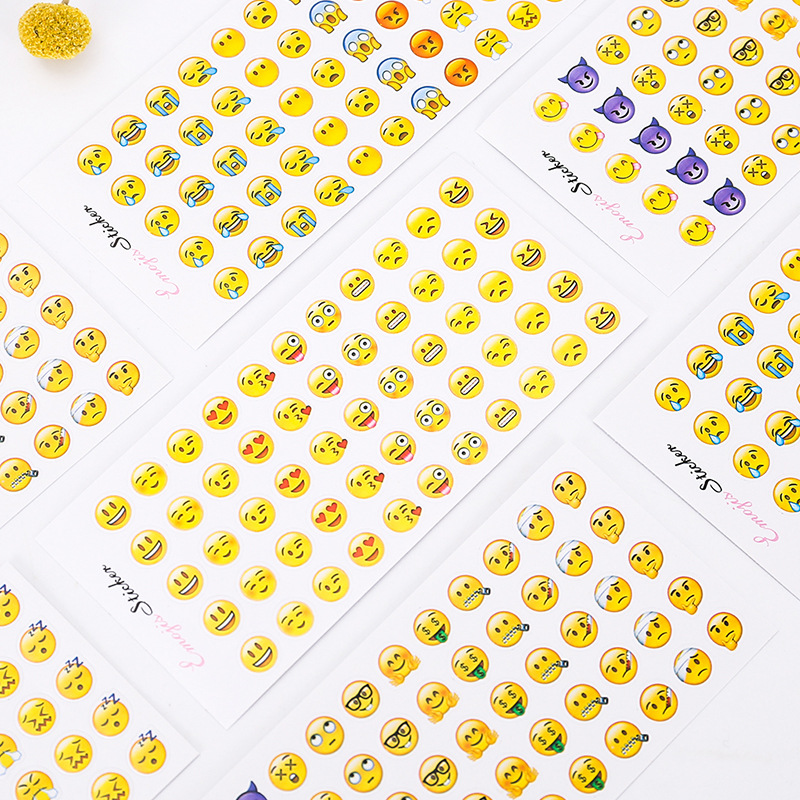 24 pcs Emoji New Expression Cute Decorative Stickers Adhesive Stickers DIY Decoration Diary Stationery Stickers kids Gift