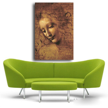 Female Face DA VINCI canvas oil painting