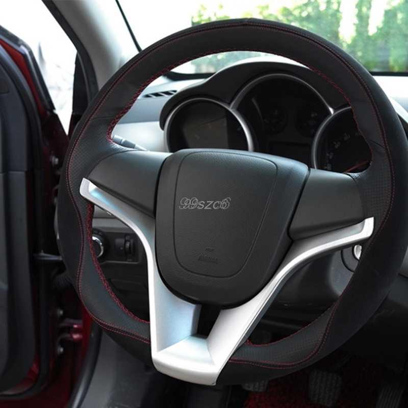 Direksiyon kalıp kapağı Trim etiket ekle için Chevrolet Cruze Trax Tracker aksesuarları DropShip