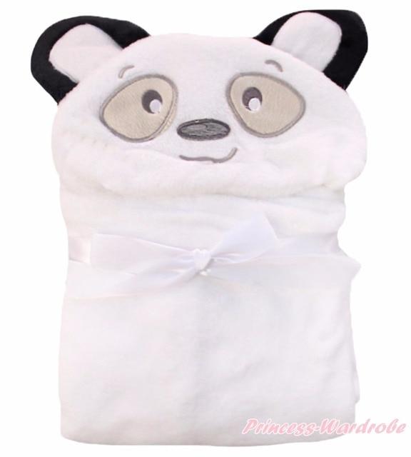 Animal Unisex Baby Blanket White Panda Warm Nursery Bedding Swaddling Wrap Shawl