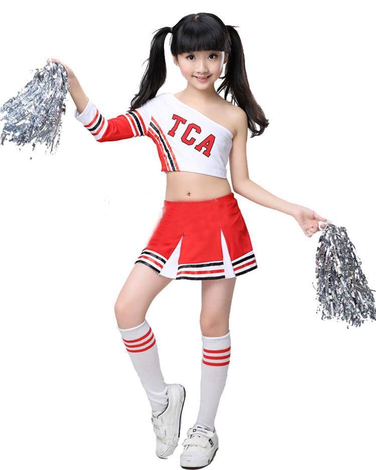 Children Competition Cheerleaders Girl School Team Uniforms KidS Kid  Performance Costume Sets Girls Class Suit Girl School Suits-in School  Uniforms from ... f8252c77c