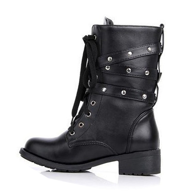Buckle Platform Ankle Boots