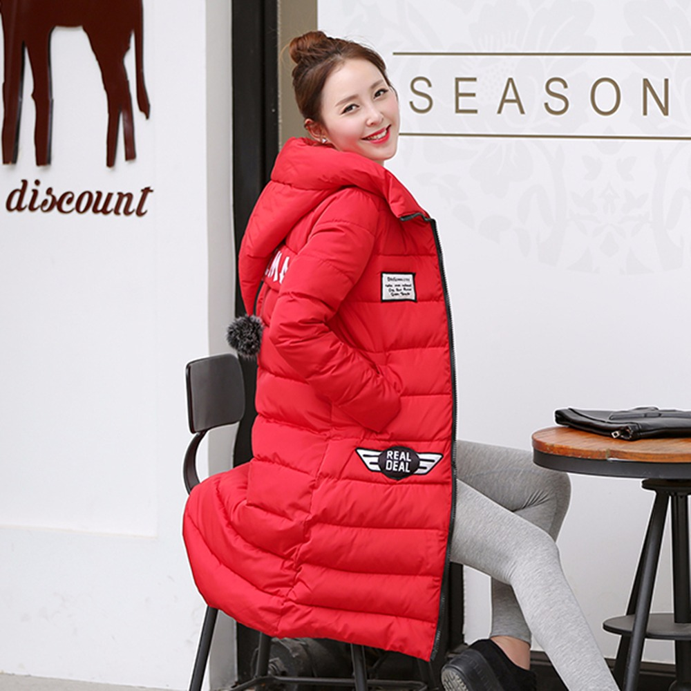 2016 New Winter Jacket Women Hooded Thicken Coat Female fashion Warm Outwear Cotton Padded Long Wadded