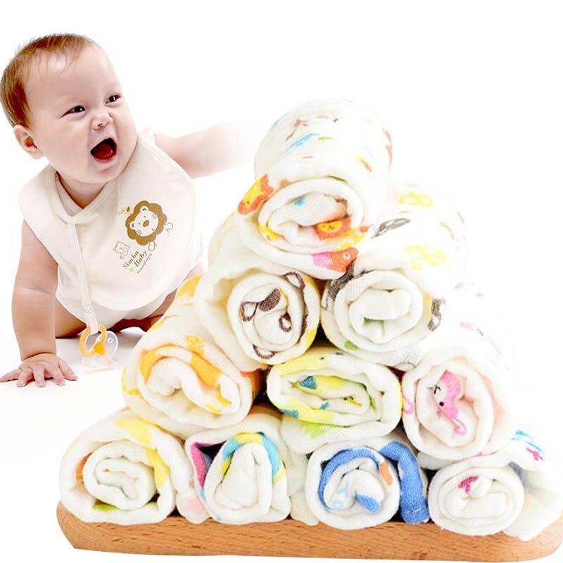 Вытирания слюней младенцев Полотенца 6-Слои хлопчатобумажной пряжи Детские мочалки салфетки для бани халаты из хлопка со случайным рисунком ланч-Слюнявчики с персонажами одежда моющиеся Полотенца s одежда для малышей