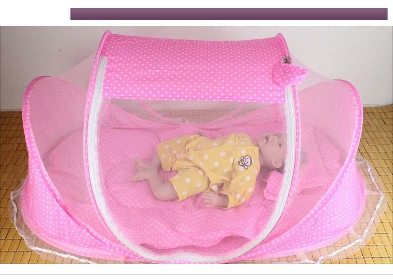 Zanzariera Letto Cotone : Nuovo pieghevole portatile bambino infant letto a baldacchino