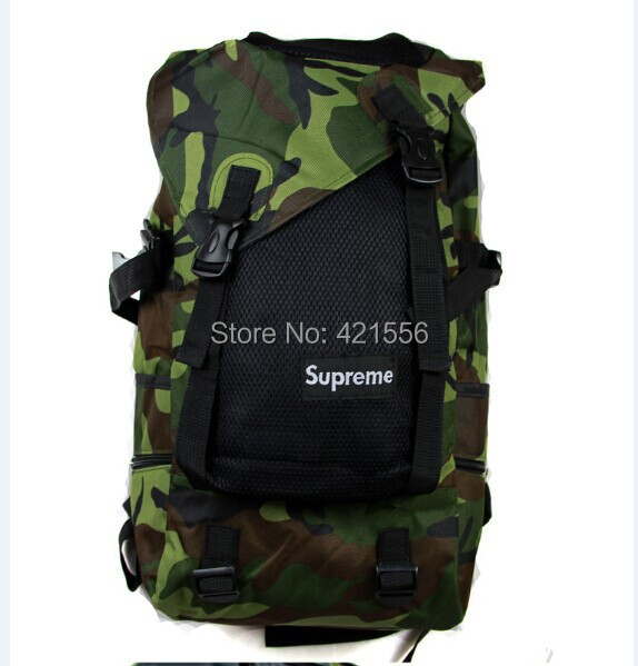 2014 new supreme camouflage sports bag unisex backpacks laptop bags men women - lover wh's store