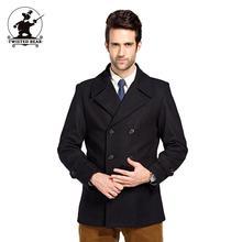Neue herren wolle pea coat designer herbst und winter fashion high qualität plus größe business wollmantel für männer ziehen homme D42F8883